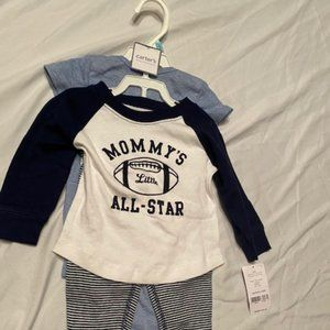 new carters 3 piece matching set for boys